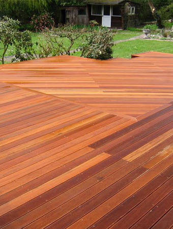 Hardwood Decking Devon