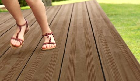 Engineered wood decking devon